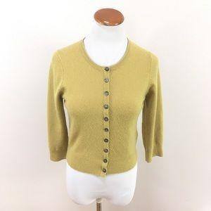 Boden Cashmere Cardigan Sweater Pistachio Green